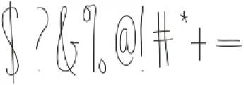 EmelieLight ttf (300) Font OTHER CHARS