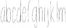 EmelieLine ttf (400) Font LOWERCASE