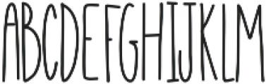 EmelieUltraLight ttf (300) Font UPPERCASE