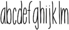 EmelieUltraLight ttf (300) Font LOWERCASE