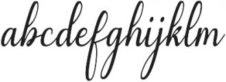 Emilyne otf (400) Font LOWERCASE