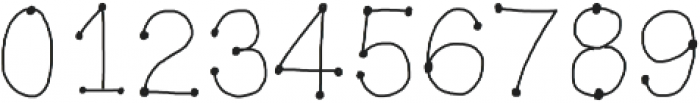 EmilysDottedHand ttf (400) Font OTHER CHARS
