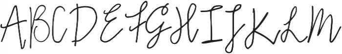 Emma Regular otf (400) Font UPPERCASE
