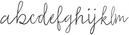 Emma Regular otf (400) Font LOWERCASE