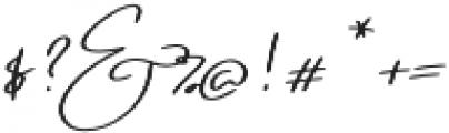 Emmylou Signature Medium Sl otf (500) Font OTHER CHARS