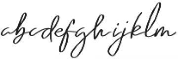 Emmylou Signature Medium Sl otf (500) Font LOWERCASE