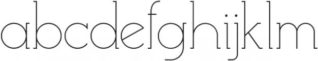 EmonaLight otf (300) Font LOWERCASE