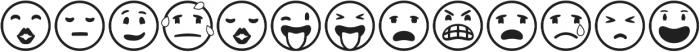 Emotions Icons IDT otf (400) Font UPPERCASE
