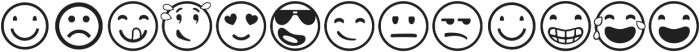Emotions Icons IDT otf (400) Font LOWERCASE