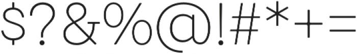 Emy Slab UltraLight otf (300) Font OTHER CHARS