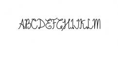 Emalia regular Font UPPERCASE