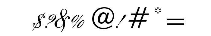 EmbassyOpti Font OTHER CHARS