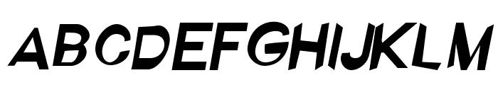 Ember Italic Font UPPERCASE