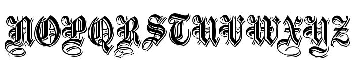 EmbossedBlack Normal Font UPPERCASE