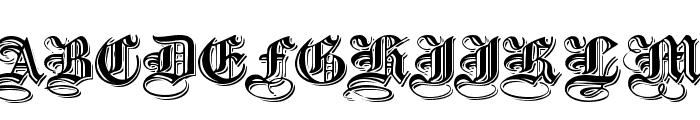EmbossedBlackWide Normal Font UPPERCASE