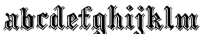 EmbossedBlackWide Normal Font LOWERCASE
