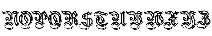 EmbossedGermanica Font UPPERCASE