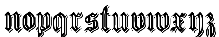 EmbossedGermanica Font LOWERCASE