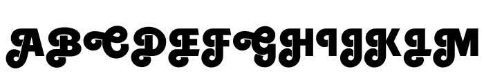 Embrionic85Swash Font UPPERCASE