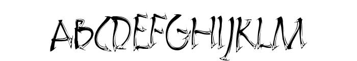 Embrush Font UPPERCASE