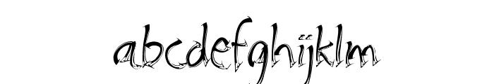 Embrush Font LOWERCASE