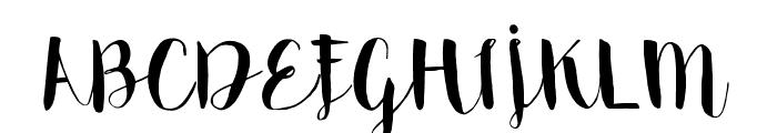 Emily The Brush Demo Regular Font UPPERCASE