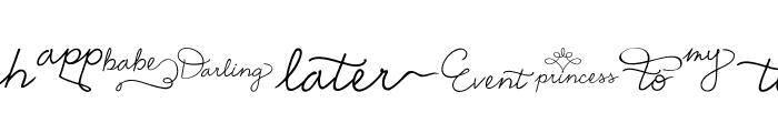 EmilyLimeWords Font LOWERCASE