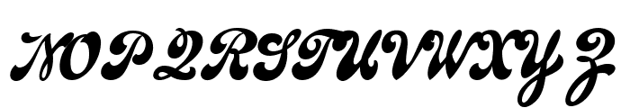 Emiral Script PERSONAL USE Font UPPERCASE