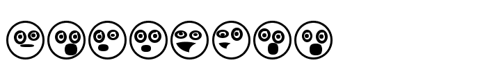 Emoji Boom Regular Font LOWERCASE