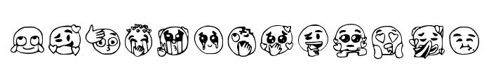 Emojis Tiktok Regular Font UPPERCASE