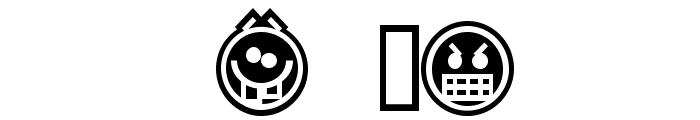 Emoticons Outline Font OTHER CHARS