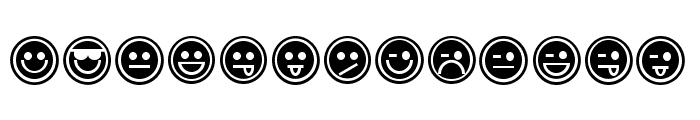 Emoticons Outline Font UPPERCASE