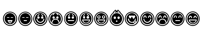 Emoticons Outline Font LOWERCASE