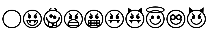 Emoticons Font OTHER CHARS
