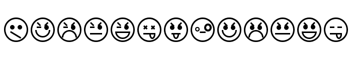 Emoticons Font UPPERCASE
