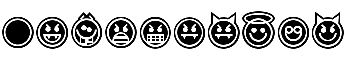 EmoticonsOutline Font OTHER CHARS