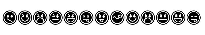 EmoticonsOutline Font UPPERCASE