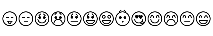Emoticons Font LOWERCASE