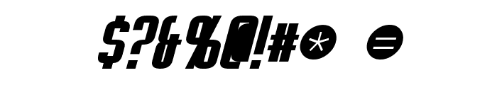 Empanada Bold Italic Font OTHER CHARS