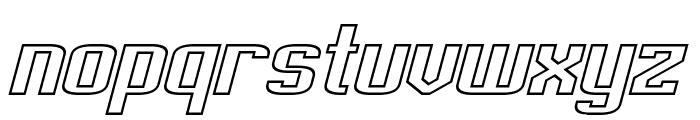 Empanada Extended Outline Italic Font LOWERCASE