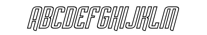 Empanada Outline Italic Font UPPERCASE