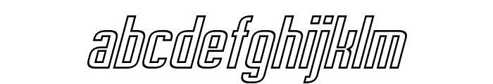 Empanada Outline Italic Font LOWERCASE