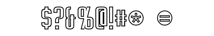 Empanada Outline Font OTHER CHARS