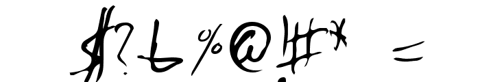 Emperors Scrawl Font OTHER CHARS