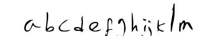 Emperors Scrawl Font LOWERCASE