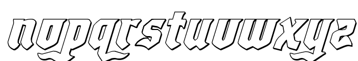 Empire Crown 3D Italic Font LOWERCASE