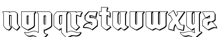 Empire Crown 3D Regular Font LOWERCASE