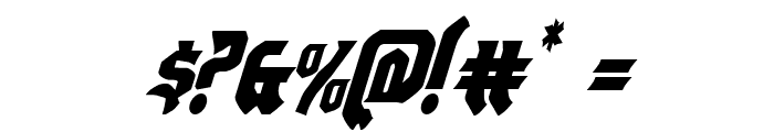 Empire Crown Condensed Italic Font OTHER CHARS