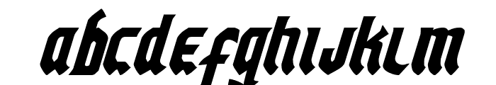 Empire Crown Condensed Italic Font UPPERCASE