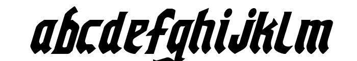 Empire Crown Condensed Italic Font LOWERCASE